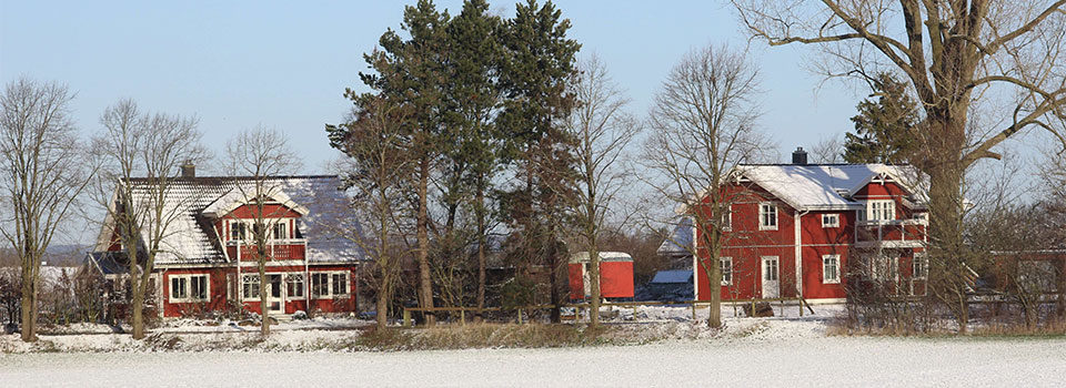 Ansicht der Häuser in Heuerstubben